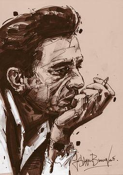 Johnny Cash sur Jos Hoppenbrouwers