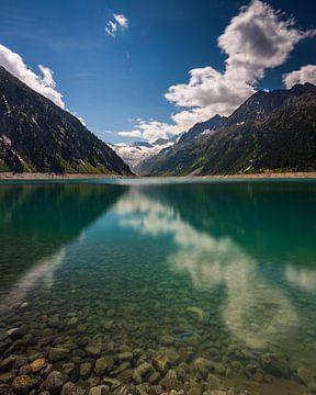 De Schlegeisspeicher, Tirol, Oostenrijk van Goos den Biesen