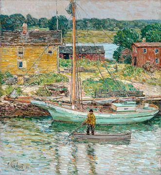 Childe Hassam, Austernschiff, Cos Cob, 1902 von Atelier Liesjes