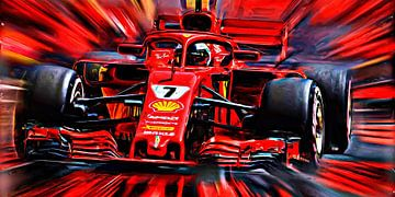 "Kimi Räikkönen nicknamed ""The Iceman"" 2018 - Version II van Jean-Louis Glineur alias DeVerviers"