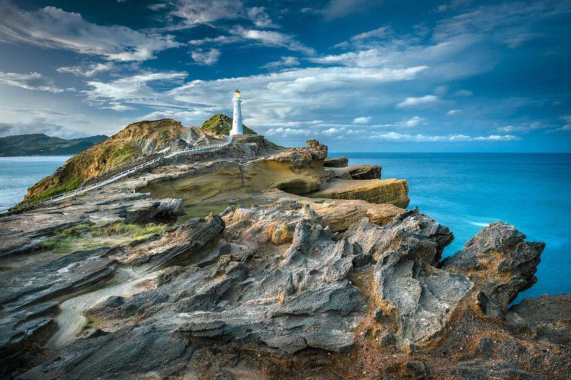 Castle Point Vuurtoren Nieuw Zeeland van FineArt Prints | Zwerger-Schoner |