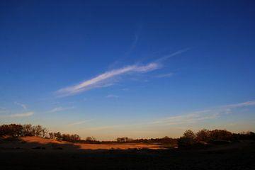 brabantse duinen bij zonsondergang van wiesje van den broek