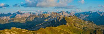 Panorama vom Nebelhorn, Allgäuer Alpen von Walter G. Allgöwer