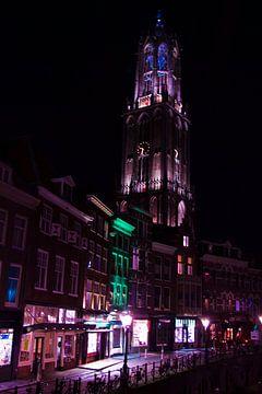 Domtoren Utrecht bij nacht van David Klumperman