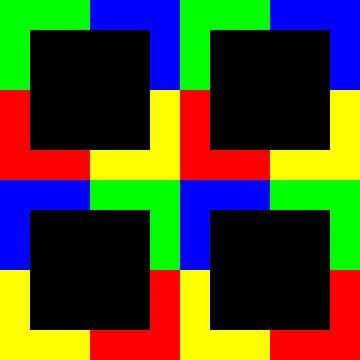 Kleurpermutatie | ID=12 | V=49 | P #01 | D-RBGY van Gerhard Haberern