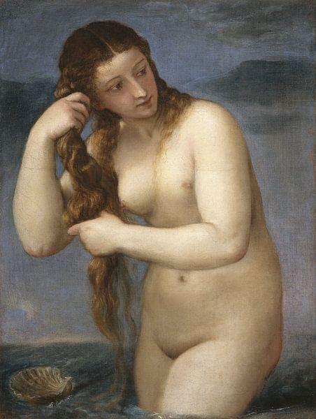 Venus Rising from the Sea, Titian von Meesterlijcke Meesters