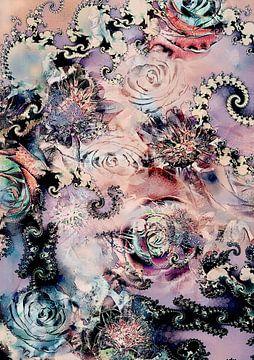 Blumen und Fraktale von Claudia Gründler