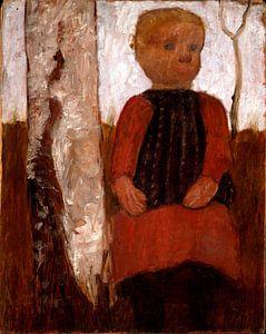 Paula Modersohn Becker.Kind im roten Kleid