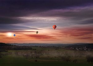 Drie luchtballonnen