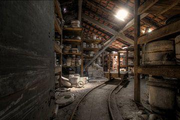 verlaten pottenbakkerij van Kristof Ven