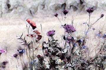Wildblumenwiese Aquarellbild