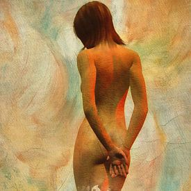 Erotisch naakt - naakt vanaf de achterkant van Jan Keteleer