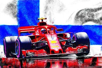 Iceman Kimi Räikkönen and Red Italo-Power van Jean-Louis Glineur alias DeVerviers