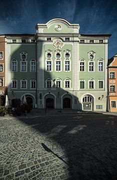 Burghausen sur la Salzach sur altmodern