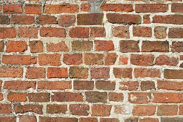 Detail einer alten braun-orangenen Wand von Trinet Uzun
