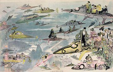 Toekomstbeeld uit 1902: Het verlaten van de opera in 2000 van Atelier Liesjes