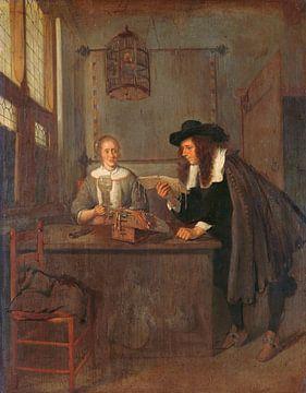 Intérieur avec une dentellière et une visiteuse, Quiringh Gerritsz. van Brekelenkam sur