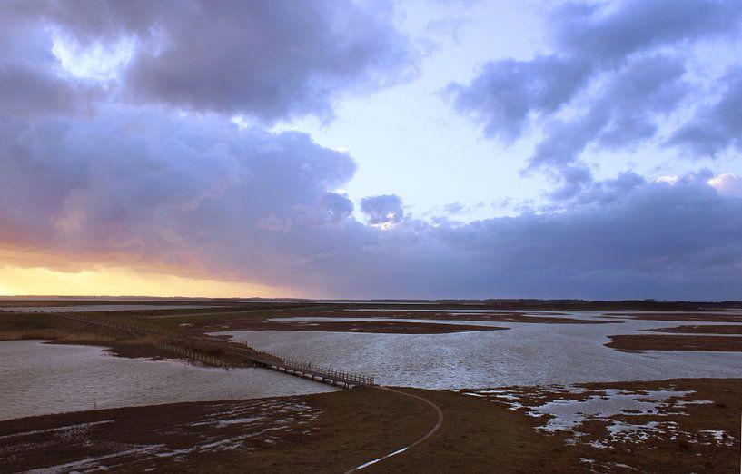 zonsondergang bij Moriaanshoofd. van Arjo Nieuwkoop