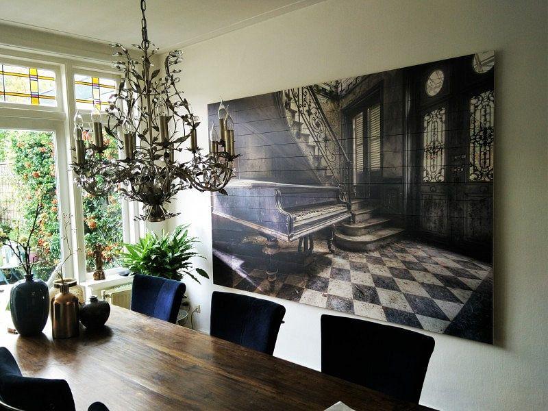 Klantfoto: Huis van de Piano speler. van Roman Robroek, op hout