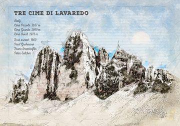 Drei Zinnen, Süd Tirol, Italien von Theodor Decker
