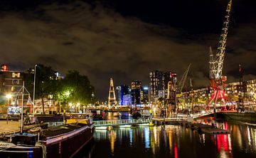Rotterdam by night  van Tim Meijer