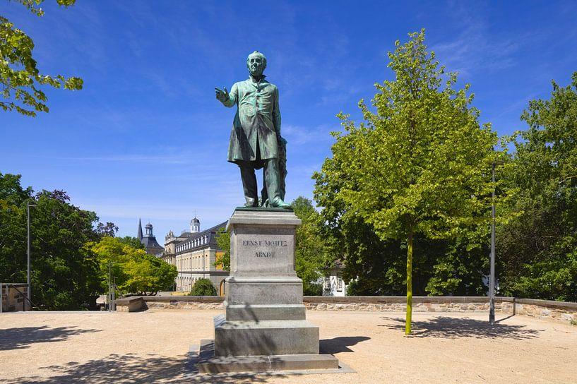 Ernst-Moritz-Arndt Denkmal, Alter Zoll,  Bonn, Nordrhein-Westfalen, Deutschland, Europa von Torsten Krüger