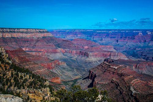 Uitzicht over de veelkleurige Grand Canyon