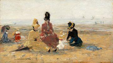 auf dem Strand, Trouville, Eugène Boudin
