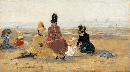 Sur le Sable, Trouville, Eugène Boudin