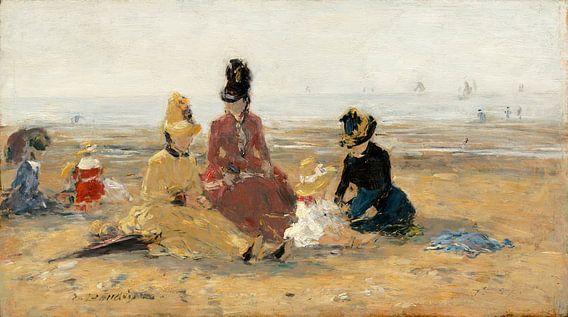 op het Strand, Trouville, Eugène Boudin