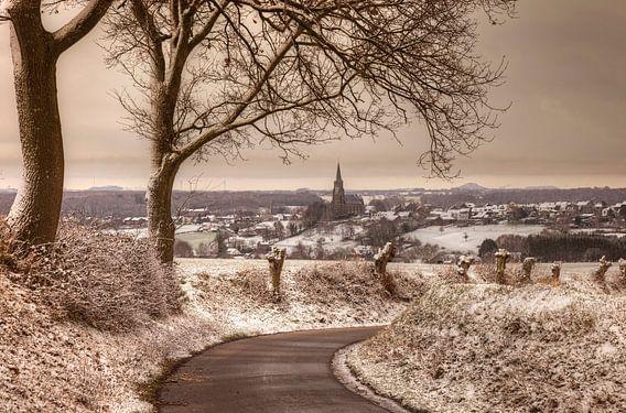 Kerkdorp Vijlen in de sneeuw