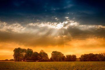 Bedrohliche Himmel in Zeeland von Peter Bartelings