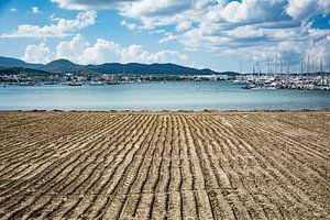 lijnwerk op het strand
