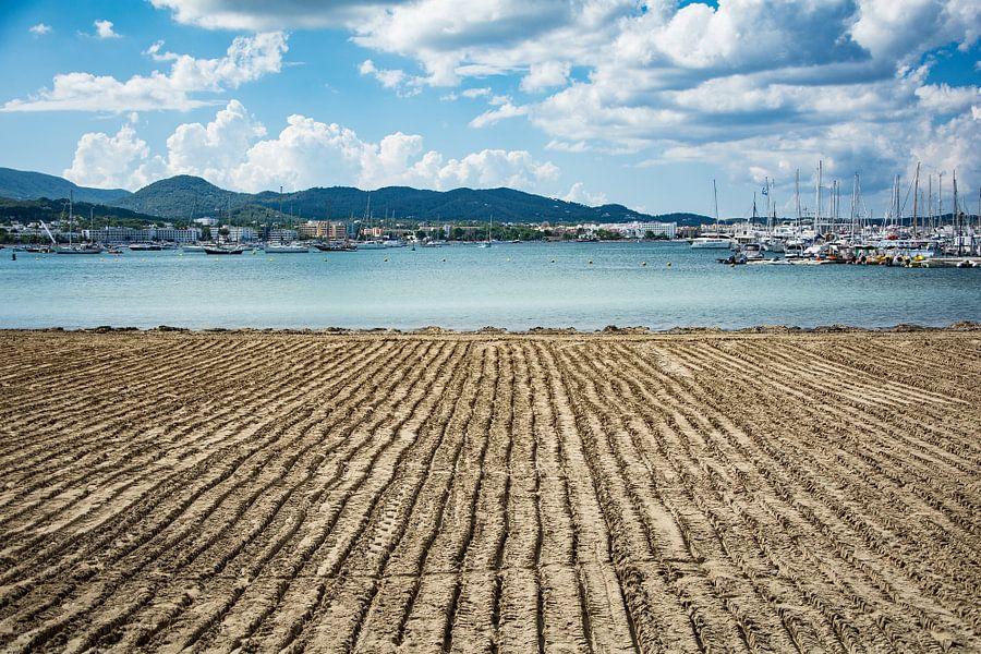 lijnwerk op het strand van Peter v Mierlo