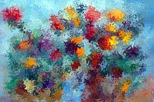 Blumen abstrakt und expressionistisch gemalt von Paul