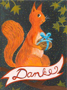 Danke Eichhörnchen van Dorothea Linke
