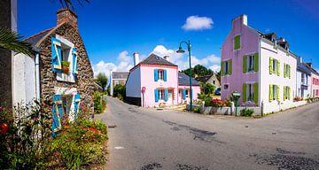 Bunte Häuser belle-île-en-mer von Jeroen Mikkers