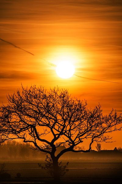 Zonsondergang in de Westhoek van Harrie Muis