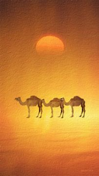 """""""Die drei Kamele"""" von meiner """"Sun and Earth"""" Serie van"""