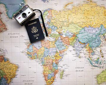 Toeristische Wereldreis van World Maps