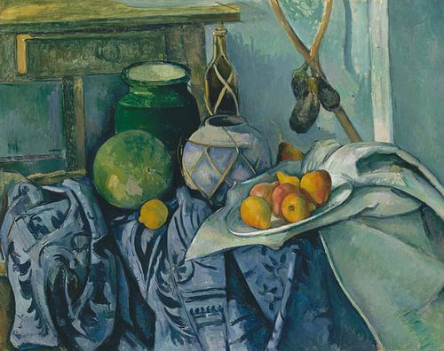Paul Cézanne - Stilleven Met Een Gember Kruik En Aubergines van 1000 Schilderijen