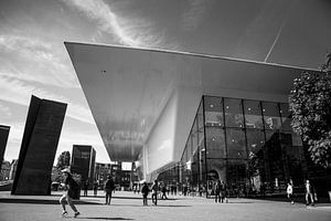 Stedelijk museum Amsterdam zwart-wit van