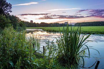 Cronesteyn park tijdens een zonsondergang van Richard Steenvoorden