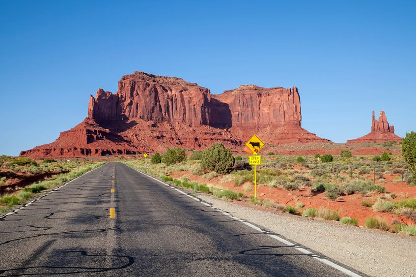 Heading for Monument Valley van Melanie Viola