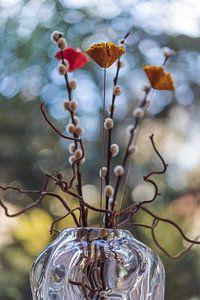 Gedroogde bloemen en takjes