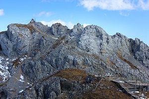 tempel in de bergen van