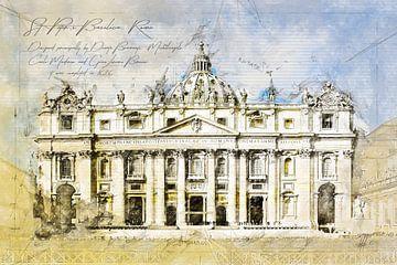 Sint-Pietersbasiliek, Rome van Theodor Decker