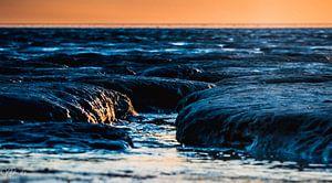 zonsondergang op het wad 2 van Jan Peter Nagel