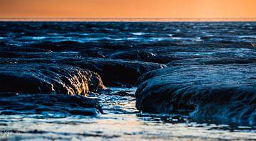 Sonnenuntergang auf dem Wattenmeer 2 von Jan Peter Nagel