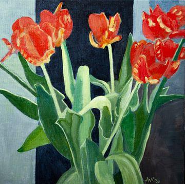 Tulpen van Antonie van Gelder Beeldend kunstenaar